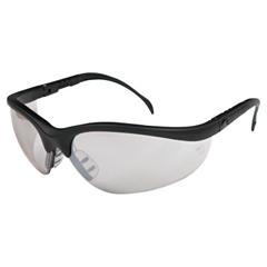 CRW135-KD119 - Crews - Klondike Protective Eyewear, Indoor/Outdoor Clear-Mirror Lenses, Black Frame