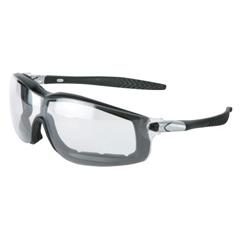 CRW135-RT110AF - CrewsRattler Protective Eyewear, Clear Lenses, Black/Silver Frame, Anti-Fog