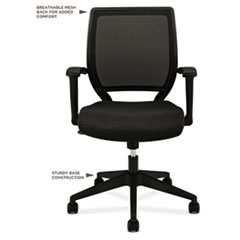 BSXVL521VA10 - basyx™ VL521 Mid-Back Work Chair with Fixed Arms