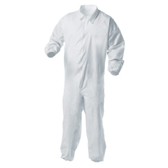 KIM138-38930 - Kimberly Clark ProfessionalKleenGuard® A35 Coveralls, Zipper Front, Elastic Wrists/Ankles, White, 2XL