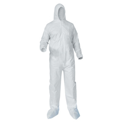 KIM138-38951 - Kimberly Clark ProfessionalKleenGuard® A35 Coveralls,Zipper Front;Elastic Wrists/Ankles,Hood, Boots,White,XL