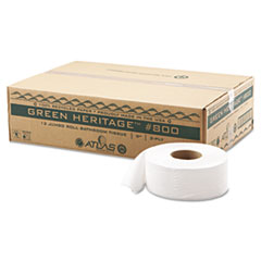 APM800GREEN-PL - Atlas Paper MillsGreen Heritage Jumbo Roll Bathroom Tissue