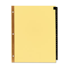 AVE11350 - Avery® Black Leather Pre-Printed Dividers
