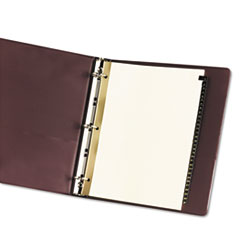 AVE11352 - Avery® Black Leather Pre-Printed Dividers