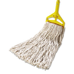 RCPF51812WHI - Rubbermaid® Commercial Non-Launderable Cotton/Synthetic Cut-End Wet Mop Heads