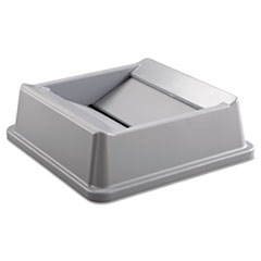 RCP2664GRAY - Rubbermaid® Commercial Untouchable® Square Swing Top Lid