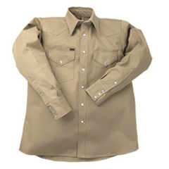 LAP160-LS-17-M - LAPCO950 Heavy-Weight Khaki Shirts