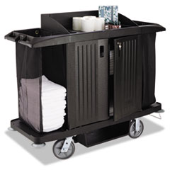 RCPFG618900BLA - Rubbermaid® Commercial Housekeeping Cart