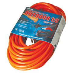 ORS172-02408 - Coleman Cable50 14/3 Red Extension Cord 300v