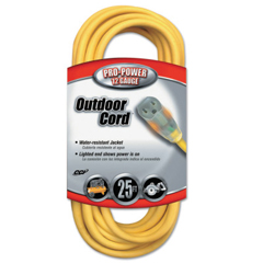 ORS172-02587-88-02 - Coleman Cable - Yellow Jacket Power Cord, 25 Ft, 1 Outlet