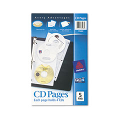 AVE75263 - Avery® Acid-Free CD Organizer Sheets for 3-Ring Binders