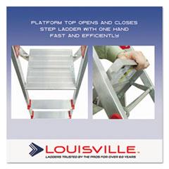DADL234604 - Davidson® #566 Aluminum Euro Platform Ladder