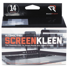 REARR1291 - Read Right® Alcohol-Free ScreenKleen™ Wipes