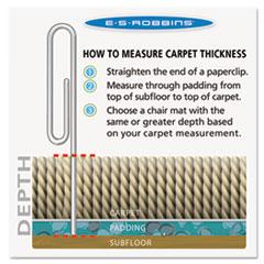 ESR120123 - ES Robbins® AnchorBar® Task Series Value Chair Mat for Carpet