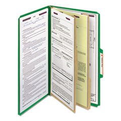SMD19033 - Smead® 6-Section Colored Pressboard Top Tab Classification Folders with SafeSHIELD™ Coated Fastener