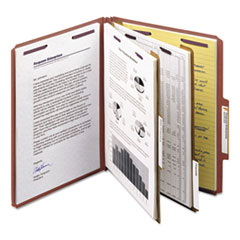 SMD14075 - Smead® Pressboard Classification Folders with SafeSHIELD™ Coated Fasteners