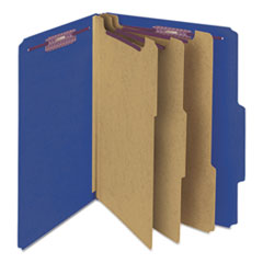SMD14096 - Smead® Colored Pressboard 8-Section Top Tab Classification Folders with SafeSHIELD™ Coated Fastener