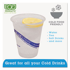 ECOEPCR12 - Eco-Products® BlueStripe™ Recycled Content Clear Plastic Cold Drink Cups
