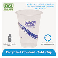 ECOEPCR16 - Eco-Products® BlueStripe™ Recycled Content Clear Plastic Cold Drink Cups