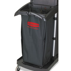 RCP1966888 - Fabric Cleaning Cart Bag, 26 gal, Black, 17 1/2w x 10 1/2d x 33h