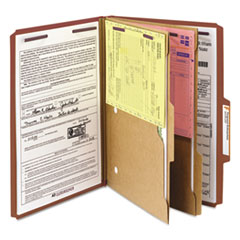 SMD19079 - Smead® 6-Section Pressboard Top Tab Pocket-Style Classification Folders with SafeSHIELD™ Coated Fastener
