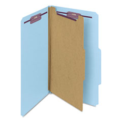 SMD18730 - Smead® 4-Section Pressboard Top Tab Classification Folders w/SafeSHIELD™ Coated Fastener