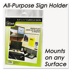 NUD37085Z - Nu-Dell Clear Plastic Sign Holders