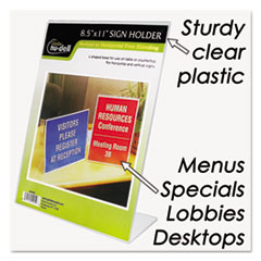 NUD35485Z - Nu-Dell Clear Plastic Sign Holders