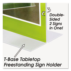 NUD38020Z - Nu-Dell Clear Plastic Sign Holders