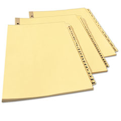 AVE11306 - Avery® Printed Laminated Tab Dividers with Gold Reinforced Binding Edge