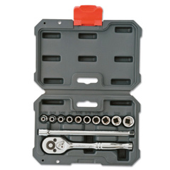 ORS192-CSWS0 - Cooper Hand Tools Crescent12 Piece Drive Socket Wrench Set, 1/4 In, SAE, 6 Point