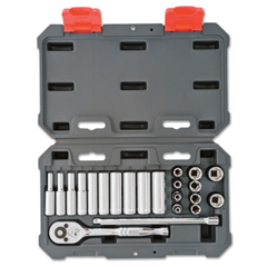 ORS192-CSWS3 - Cooper Hand Tools Crescent22 Piece Drive Socket Wrench Set, 1/4 In Metric, Standard And Deep, 6 Point
