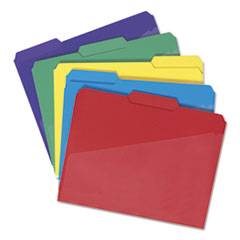 SMD10540 - Smead® Poly Colored File Folders With Slash Pocket