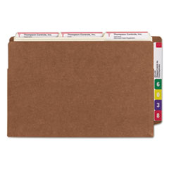 SMD74795 - Smead® Heavy-Duty Redrope Drop Front End Tab File Pockets