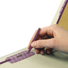 SMD26800 - Smead® Extra-Heavy Recycled End Tab Classification Folders w/SafeSHIELD™ Coated Fasteners