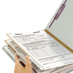 SMD26810 - Smead® Extra-Heavy Recycled End Tab Classification Folders w/SafeSHIELD™ Coated Fasteners