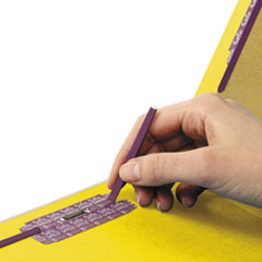 SMD29789 - Smead® Colored Pressboard End Tab Classification Folders w/SafeSHIELD™ Coated Fasteners
