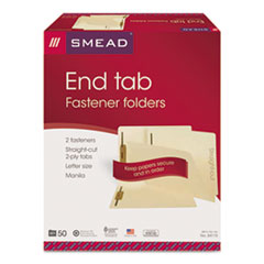 SMD34115 - Smead® Heavyweight Manila End Tab Folders with Fasteners