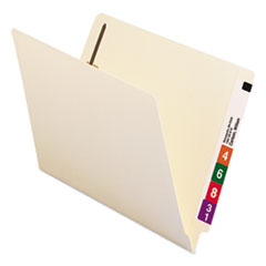 SMD34116 - Smead® Manila Reinforced End Tab Folders with Fasteners and Antimicrobial Product Protection