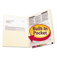 SMD34100 - Smead® Heavyweight Manila End Tab Pocket Folders with Fastener