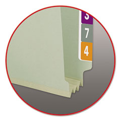 SMD37725 - Smead® End Tab Expansion Recycled Pressboard File Folders w/SafeSHIELD™ Coated Fasteners