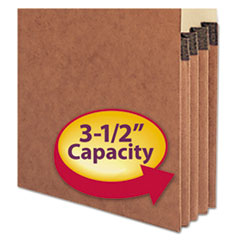 SMD73624 - Smead® Heavy-Duty Redrope Drop Front End Tab File Pockets