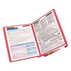 SMD25740 - Smead® Heavyweight Colored End Tab Folders with Fasteners