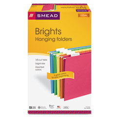SMD64159 - Smead® Colored Hanging File Folders