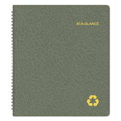AAG70260G60 - Recycled Monthly Planner, 11 x 9, Green, 2020-2021