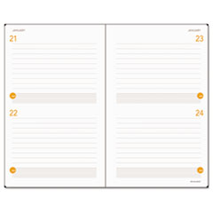AAG80612105 - Plan. Write. Remember. Planning Notebook Two Days Per Page, 5 x 8 1/4, Black