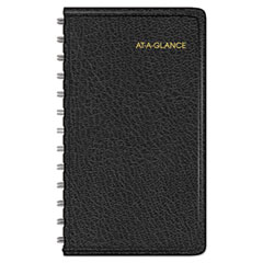 AAG7003505 - Weekly Planner, 4 1/2 x 2 1/2, Black, 2020