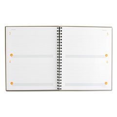 AAG80620430 - Plan. Write. Remember. Planning Notebook Two Days Per Page, 8 3/8 x 11, Gray