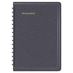 AAG7080705 - Daily Appointment Book with 15-Minute Appointments, 8 x 4 7/8, Black, 2019-2020
