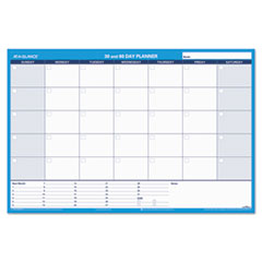 AAGPM23328 - 30/60-Day Undated Horizontal Erasable Wall Planner, 36 x 24, White/Blue,
